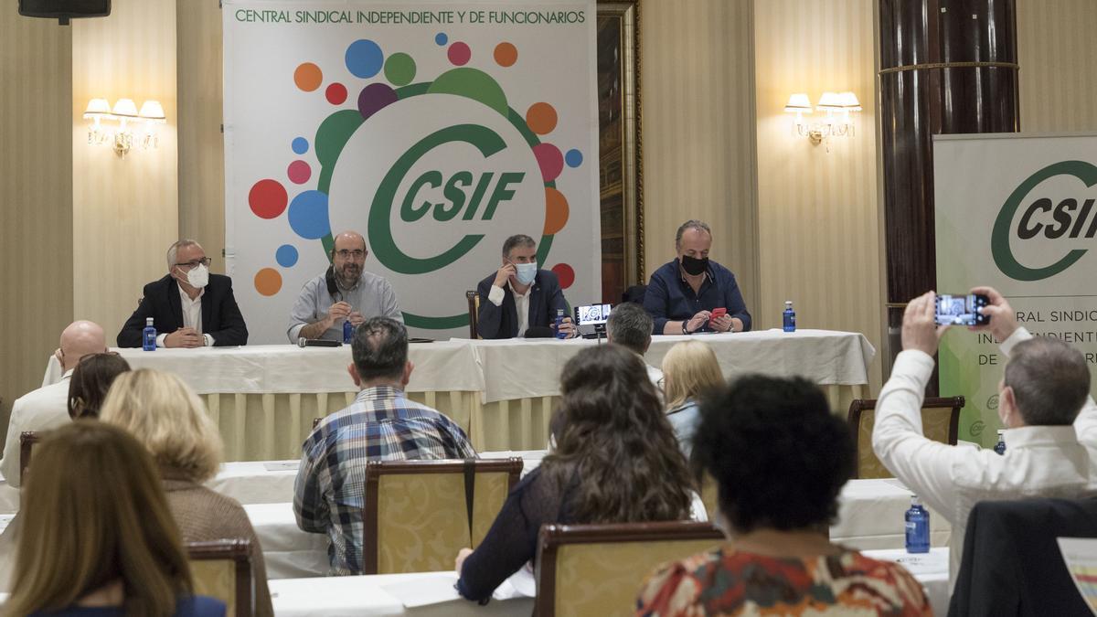 Jornada formativa de CSIF organizada ayer en Salamanca.