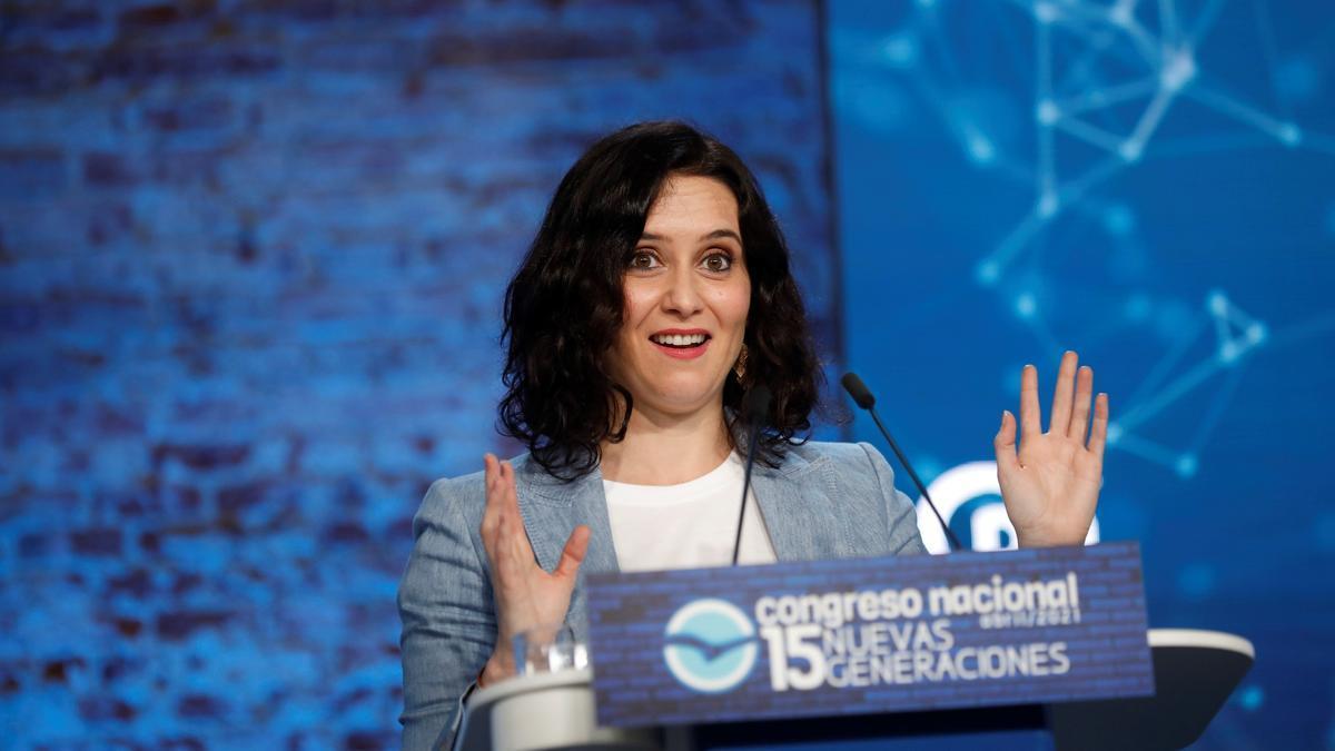 La presidenta de Madrid, Isabel Díaz Ayuso.