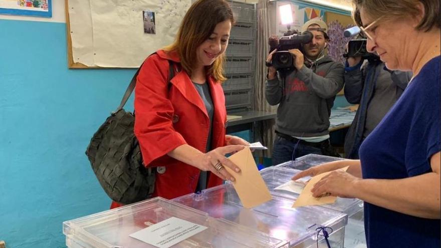 Los candidatos a las elecciones en Baleares 2019 votan