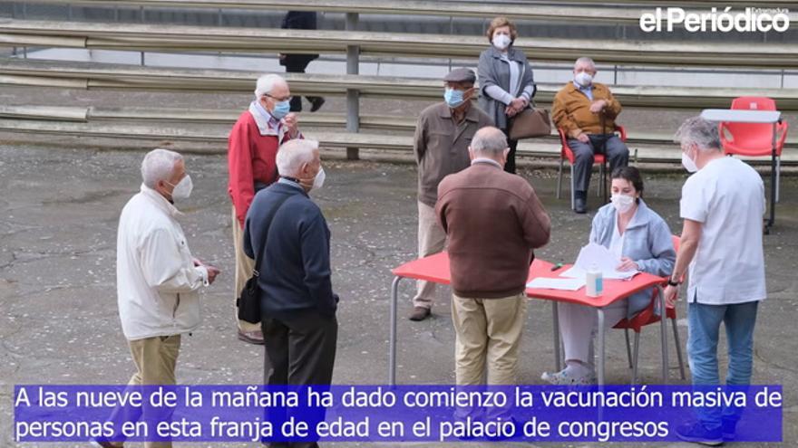 Comienza la vacunación masiva de mayores de entre 79 y 70 años en Badajoz