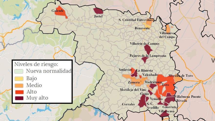 Mapa de coronavirus de Zamora, hoy, miércoles | Morales del Vino y Fuentesaúco, libres de virus