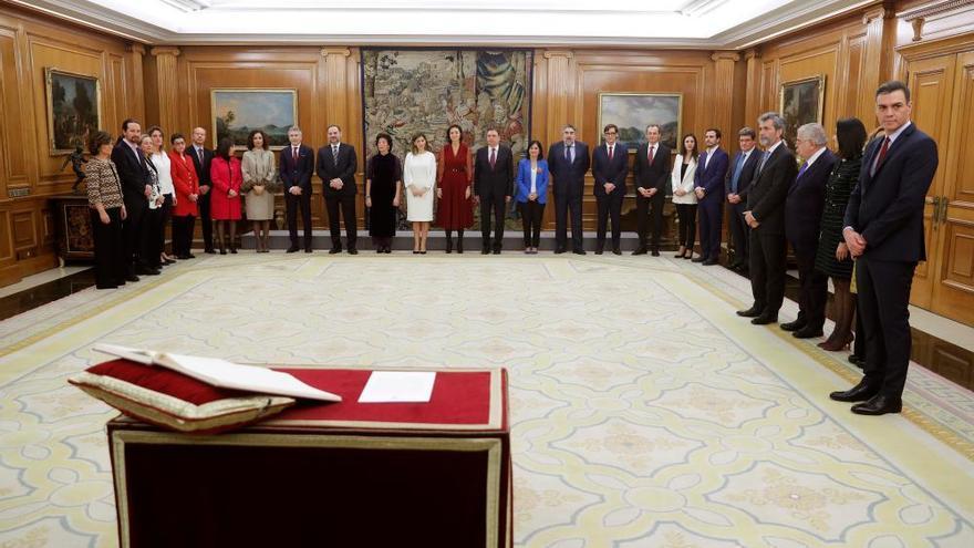 Los 22 ministros del Gobierno de Pedro Sánchez prometen sus cargos