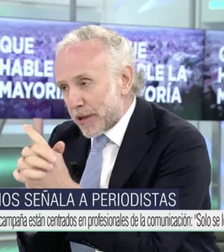 """Pablo Iglesias denuncia de nuevo a Eduardo Inda: """"Nos acusa de delitos gravísimos y Ana Rosa en silencio"""""""