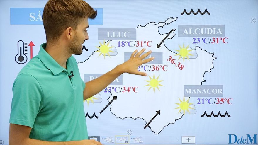 El tiempo del fin de semana en Mallorca: aprieta el calor, respiro el domingo