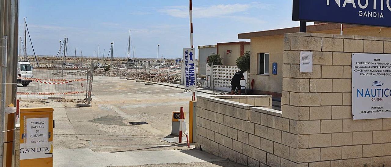 Las instalaciones del Náutico de Gandia, sin el edificio social que ya fue demolido. | LEVANTE-EMV