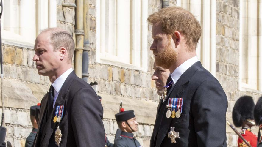 Guillermo y Enrique se reencuentran en el funeral de Felipe de Edimburgo