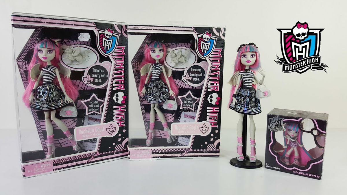 """Rochelle Goyle, una de las muñecas """"Monster High""""."""