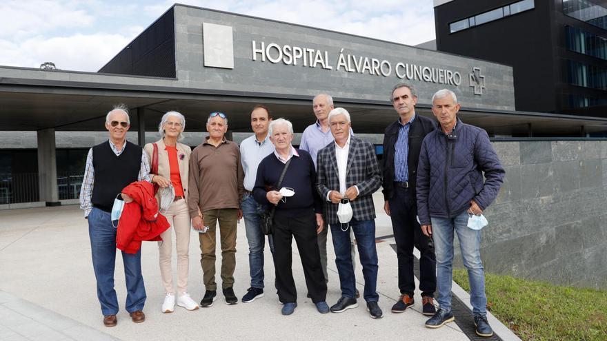 Olímpicos vigueses visitan a Gómez en el hospital