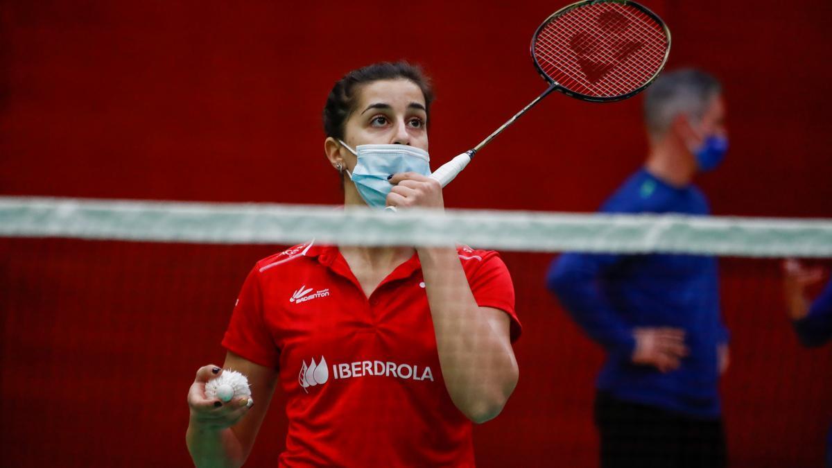 Carolina Marín durante un entrenamiento