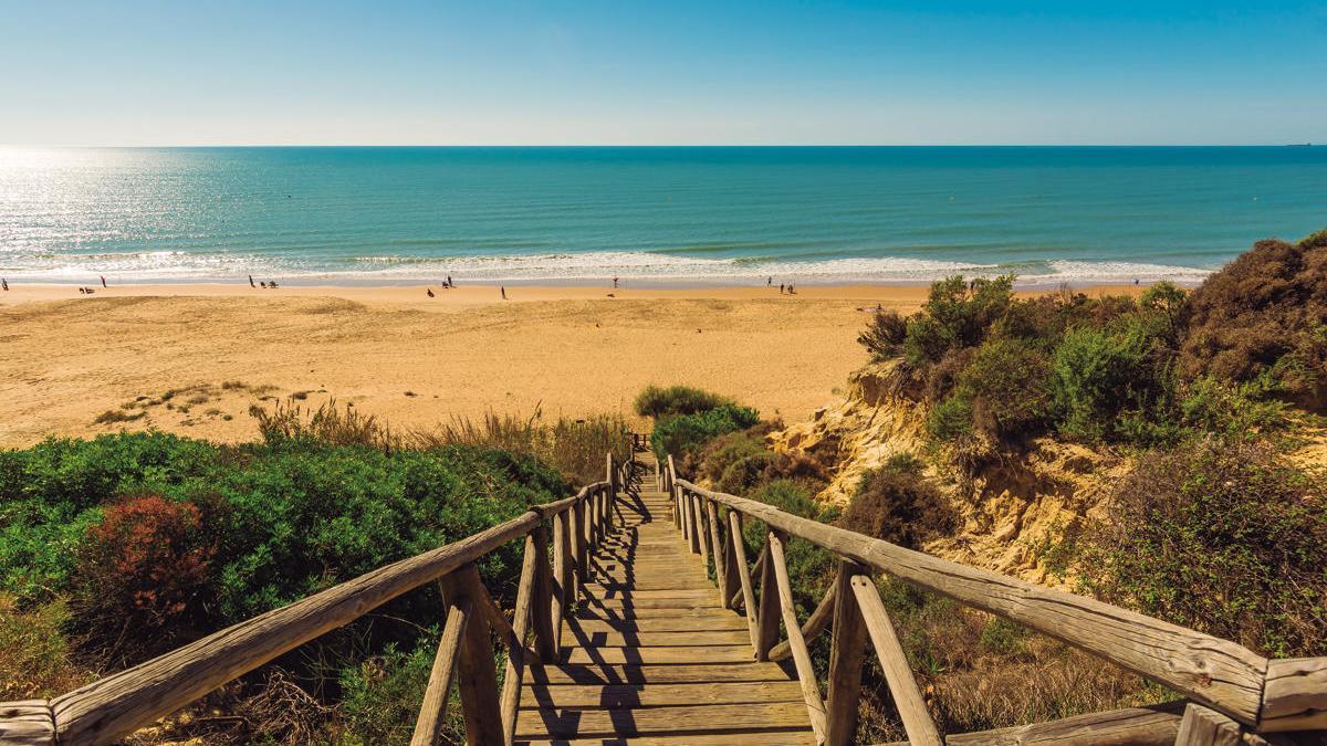 Las playas de la localidad de Mazagón.