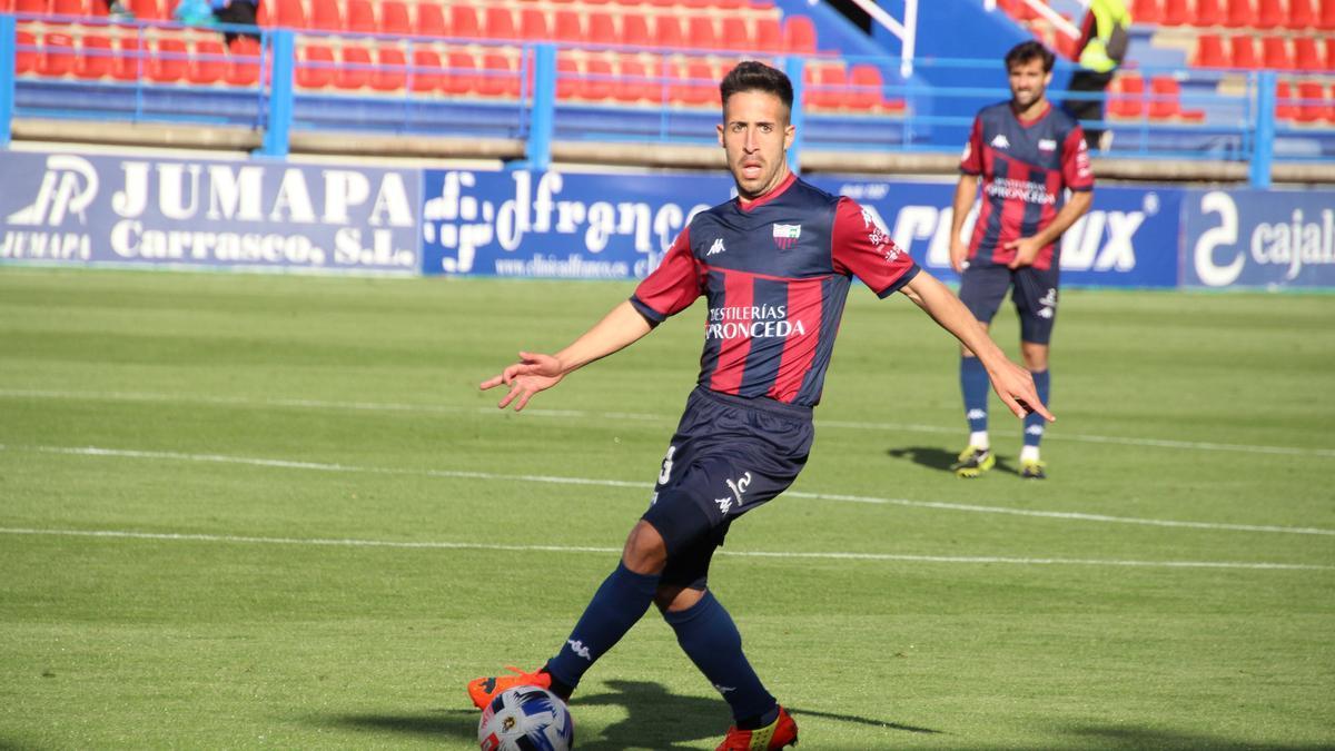 Dani Toribio, en un partido.