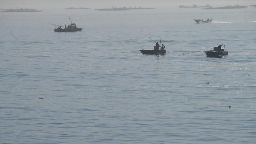 Marisqueo a flote en Rodeira