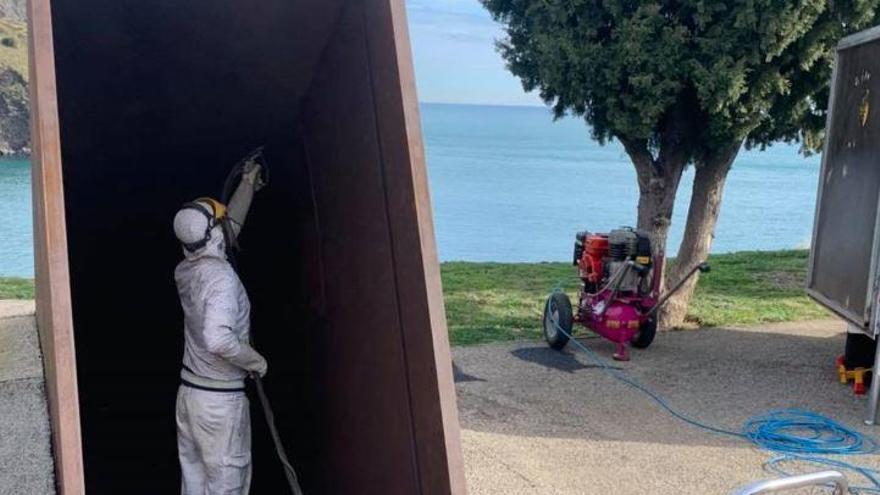 Portbou restaura el memorial  «Passatges» de Dani Karavan