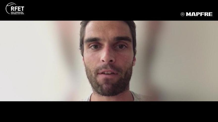 Pablo Andújar en La Liga Mapfre de Tenis
