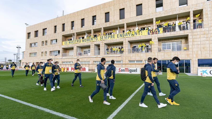 Así ha sido la despedida de la Cantera Grogueta al Villarreal antes de su partido contra el Dinamo