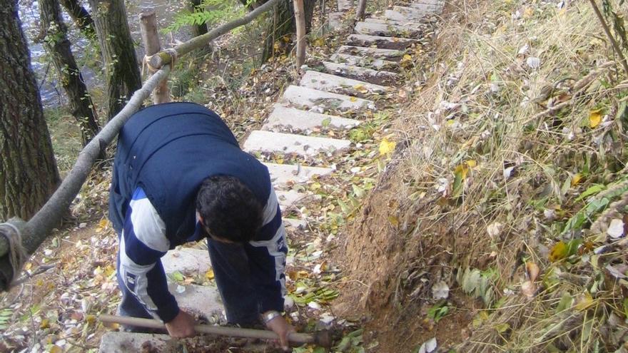 ProCulto celebra una jornada de voluntariado para desbrozar el sendero del río en Toro