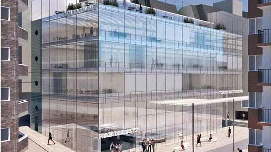 El futuro mercado de Sanxenxo tendrá cinco plantas acristaladas y dos sótanos