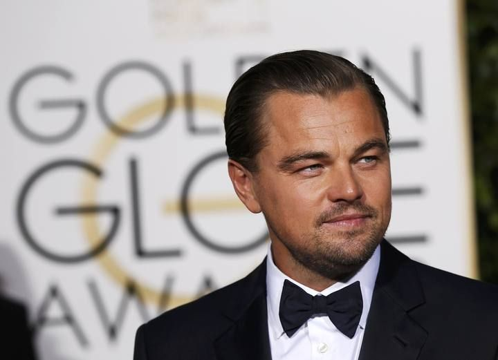 Leonardo DiCaprio arrives at the 73rd Golden Globe Awards in Beverly Hills