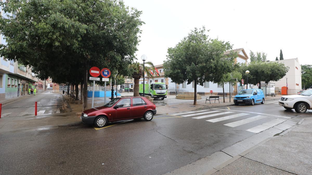 La plaza de Casetas, Castillo Santiago, será peatonalizada.