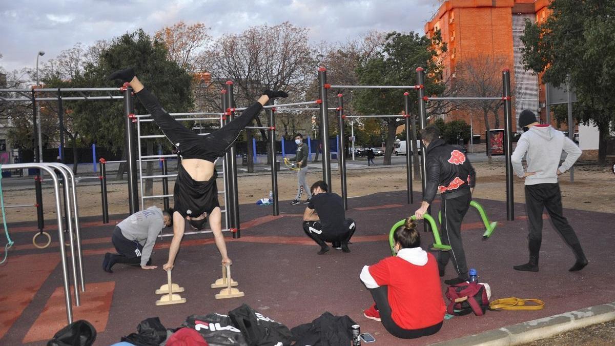 Nuevo parque de 'Street Workout' en el barrio de la Fuensanta