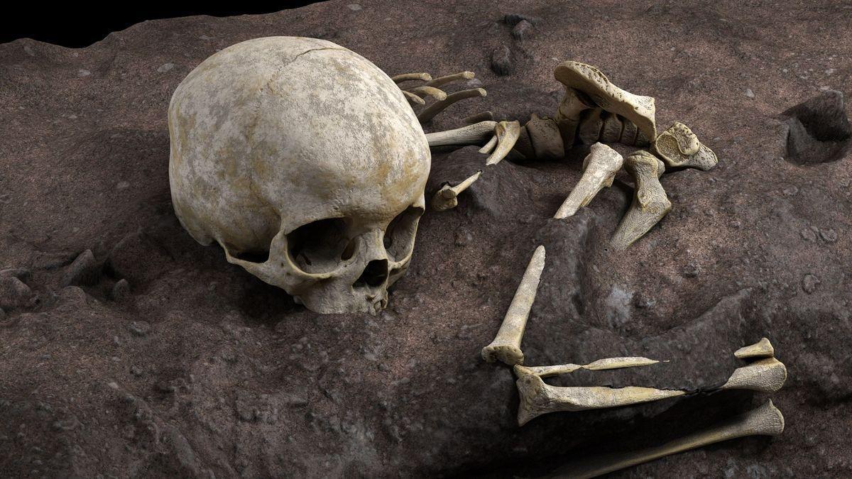 Mtoto, un niño de 3 años, el enterramiento humano más antiguo de África.