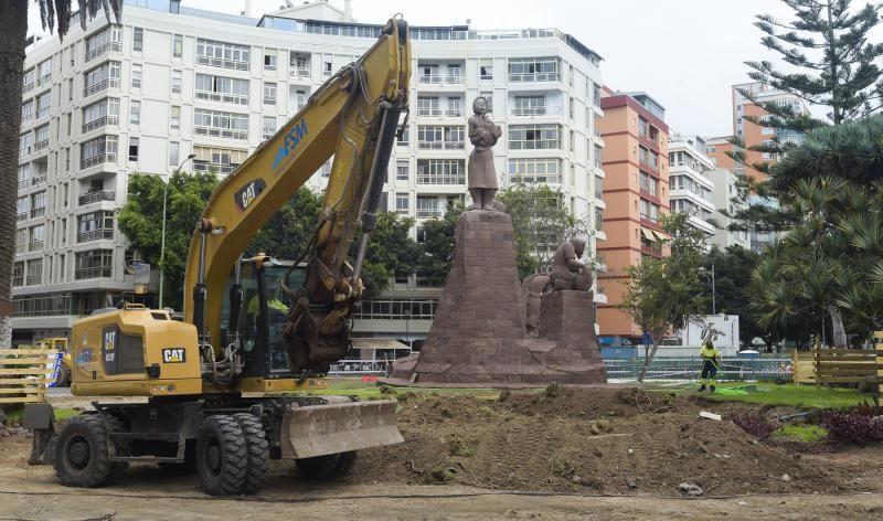 Obras en la Plaza de España