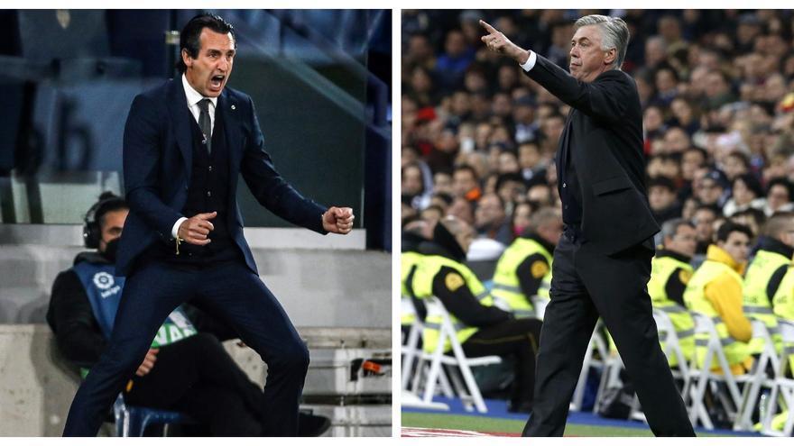 Emery y Ancelotti, el duelo de estrategas de Villarreal y Real Madrid