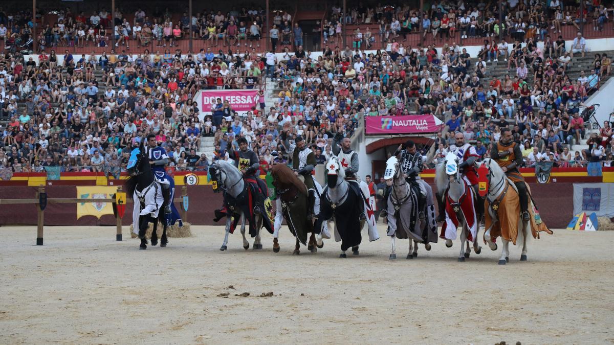 Justas celebradas en el 2019 en la plaza de toros con motivo del 8 de septiembre.