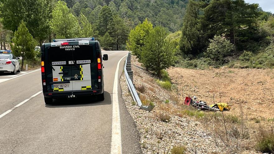Un fallecido en un accidente en la A-1704 en Calomarde