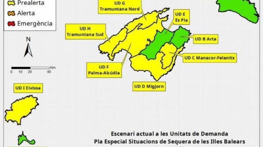 Pegelstände auf Mallorca trotz Regenfällen weiter gesunken