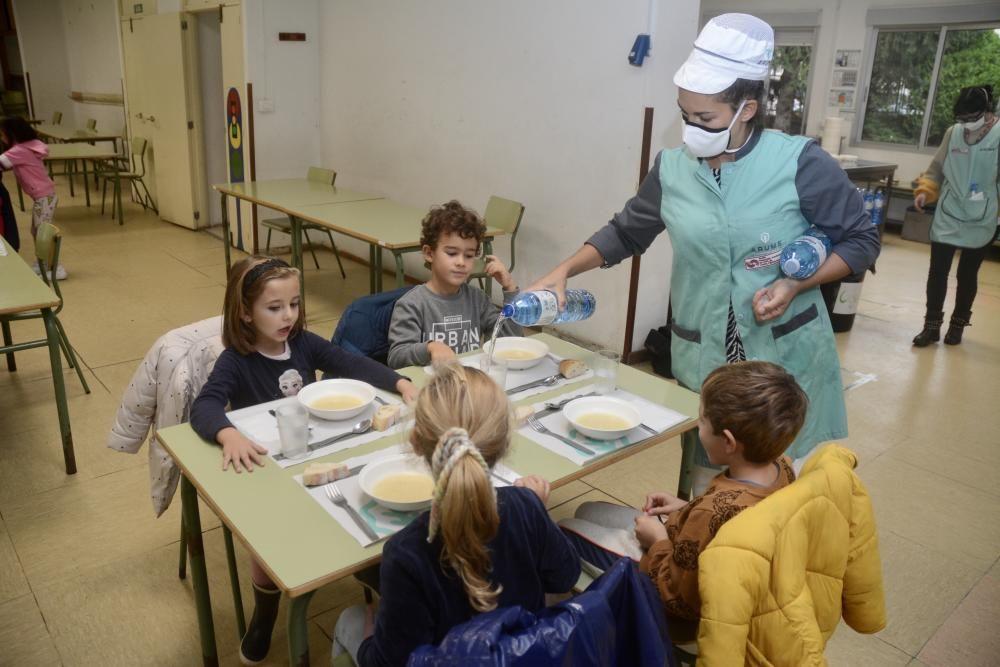 El comedor de Campolongo separa a los escolares de Infantil y Primaria en dos turnos