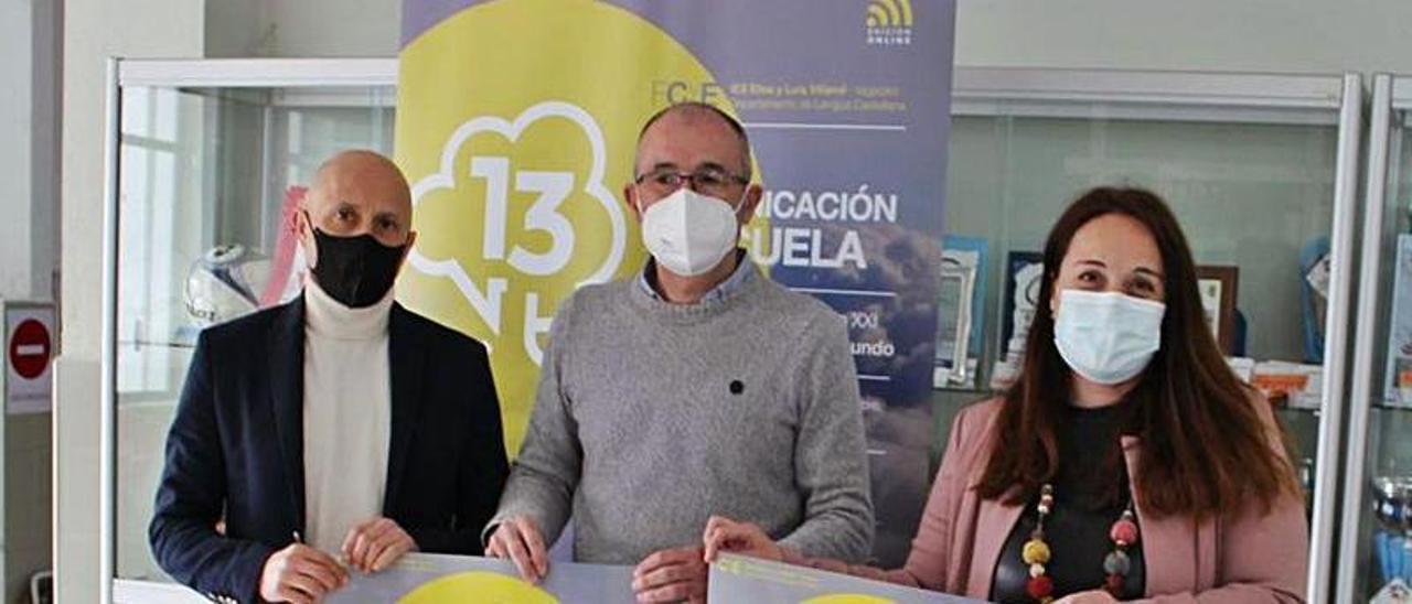 Javier Santos, Luis Felipe Fernández y María Meitín. | T. Cascudo