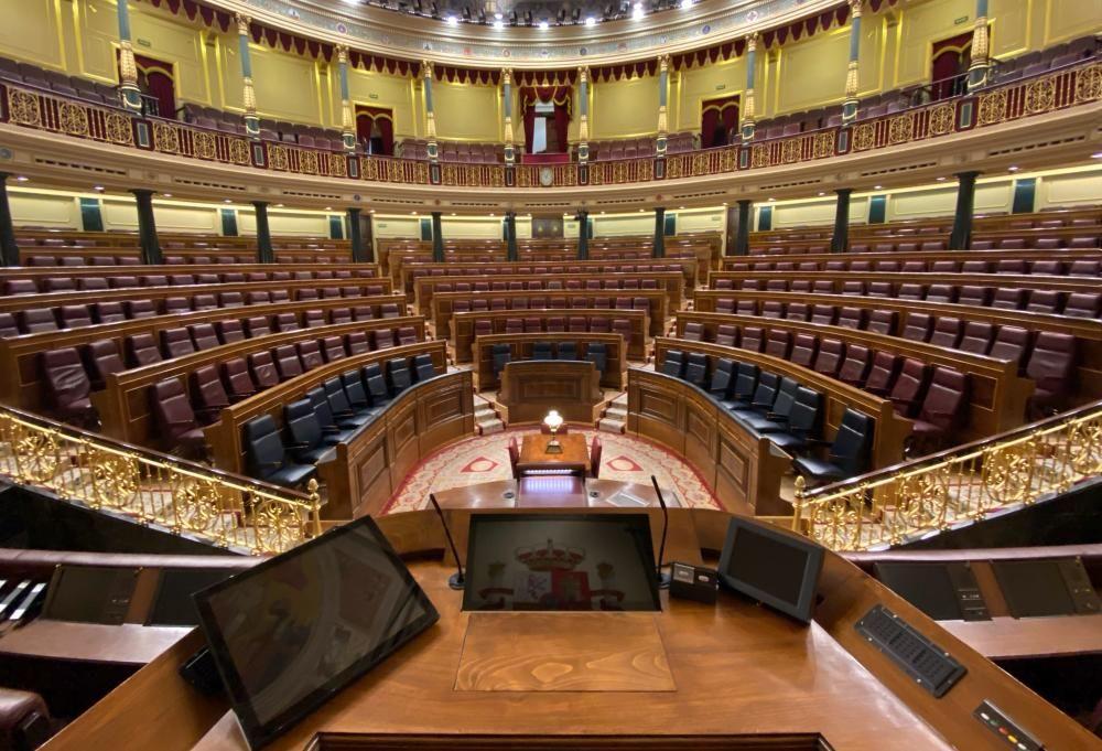 Vista general del Congreso de los Diputados ...
