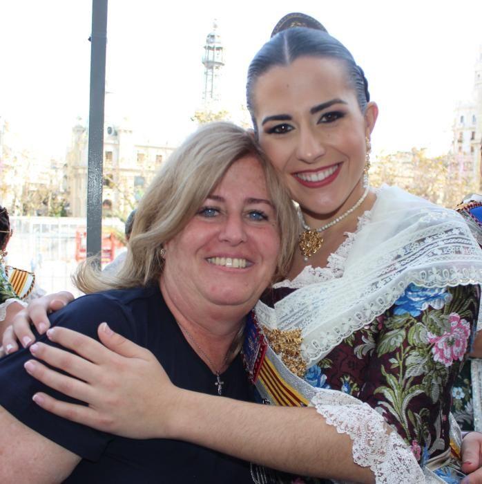 Claudia Rodríguez, con su madre