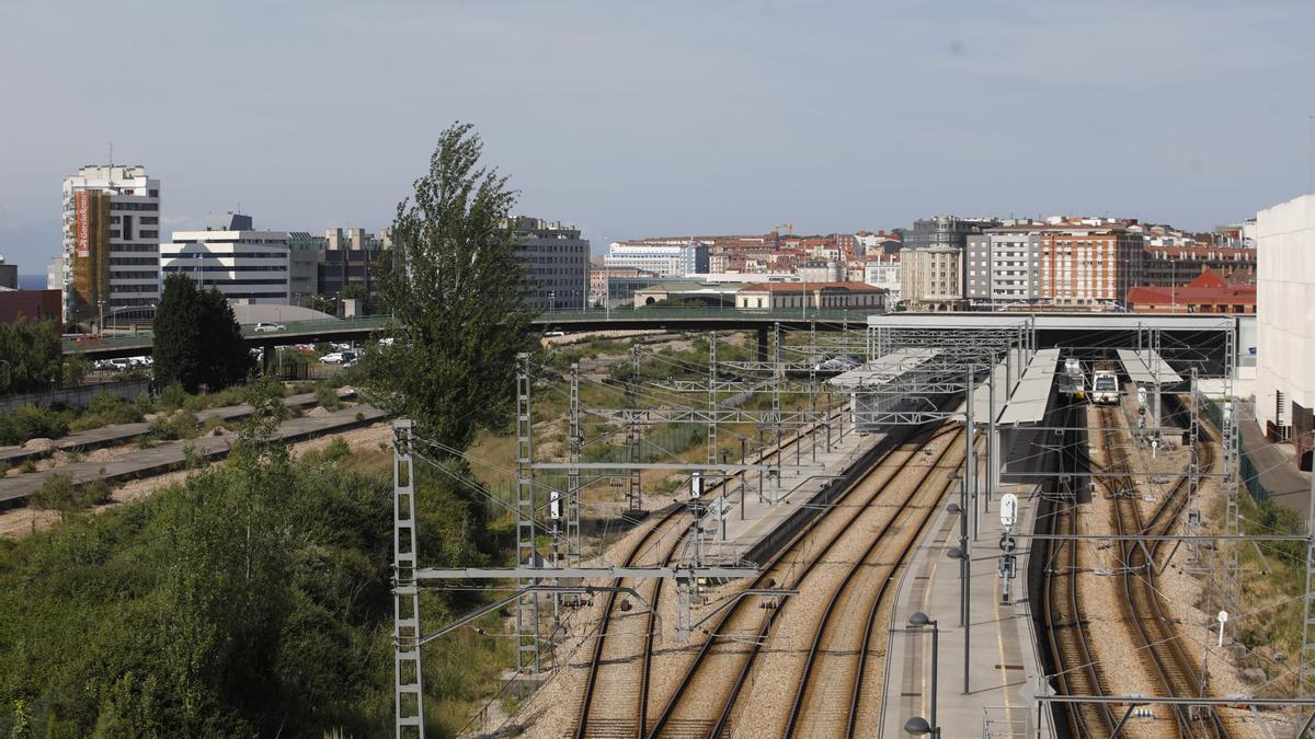 Vías a su llegada a la estación de Sanz Crespo.