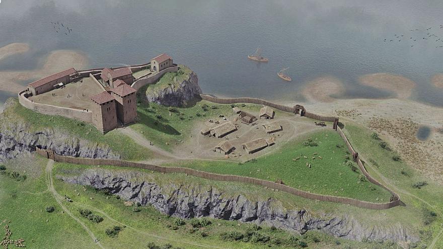 Los arqueólogos reconstruyen el Gauzón en 3D: así era el lugar en el que se forjó la Cruz de la Victoria