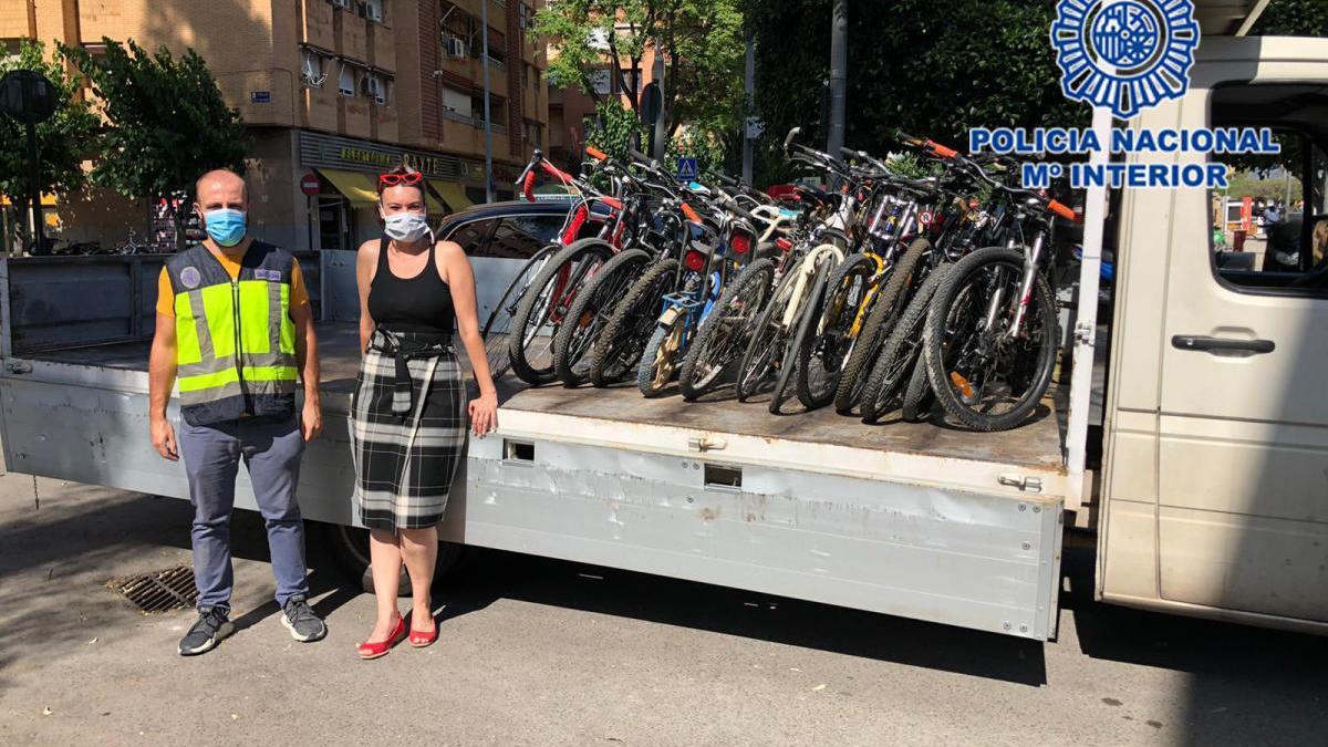 Un uso solidario para las bicis perdidas en la Región