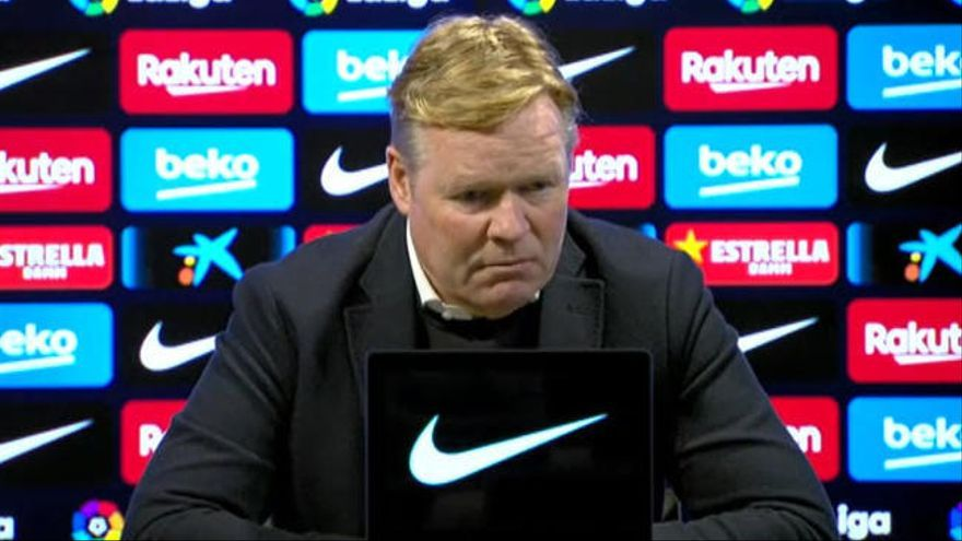 """Koeman: """"Estoy muy decepcionado, más que con el PSG"""""""