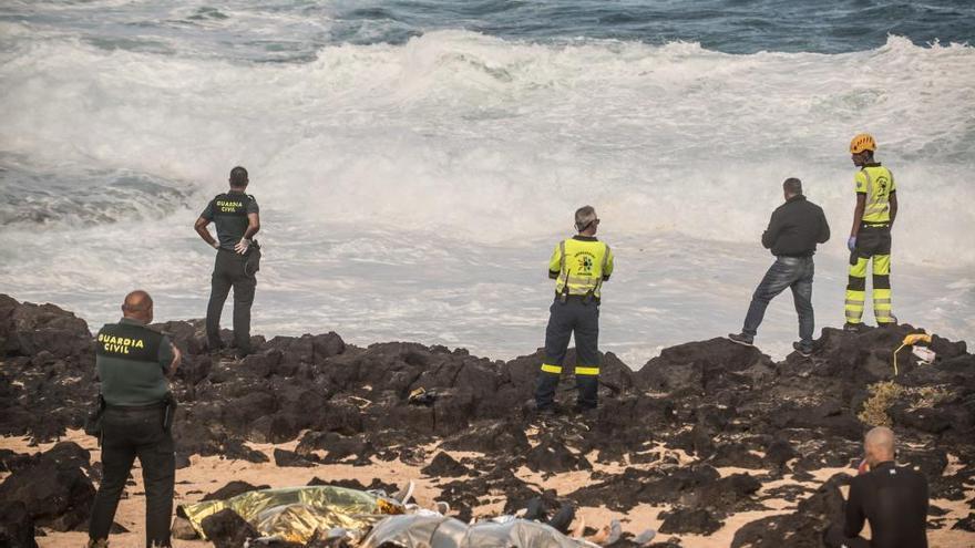 Los cuerpos de inmigrantes recuperados sin vida en Lanzarote ascienden ya a nueve