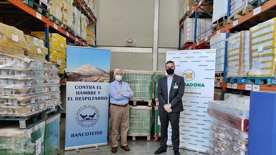 Mercadona entrega 15 toneladas de productos al Banco de Alimentos