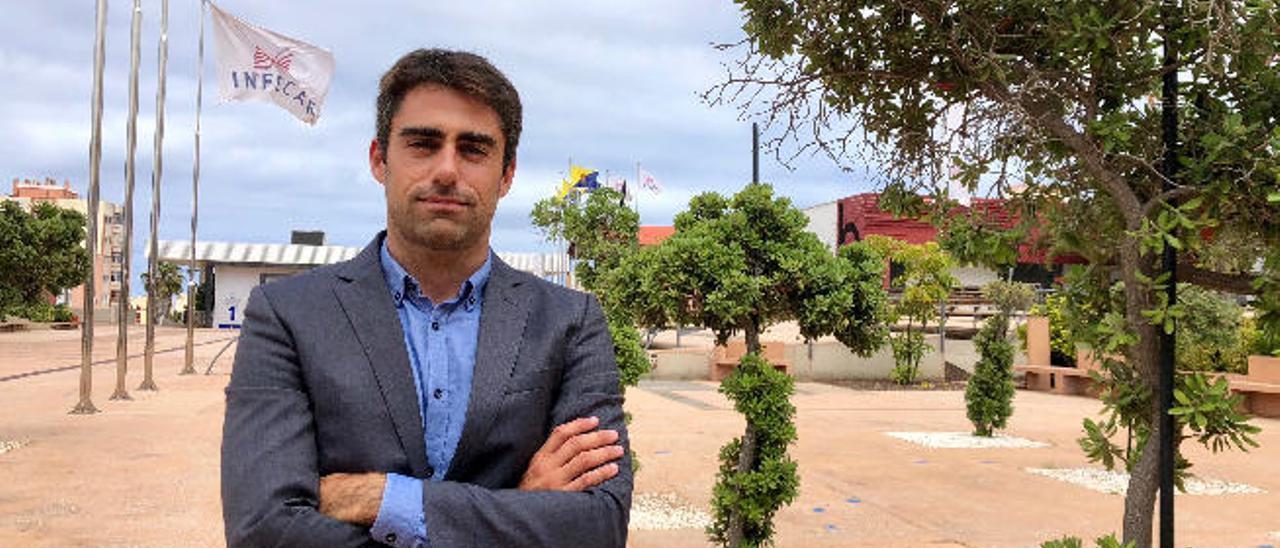 Javier Fernández Villares, ayer, en Infecar.