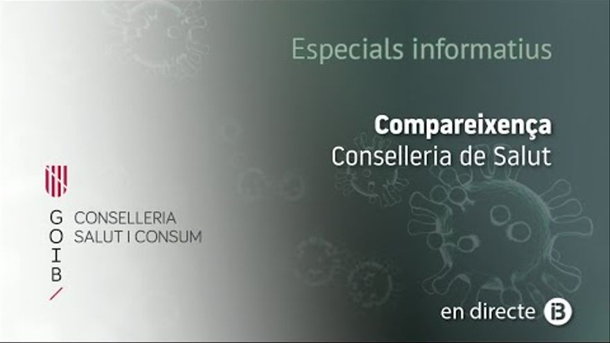En directo | Javier Arranz evalúa la situación epidemiológica de Baleares
