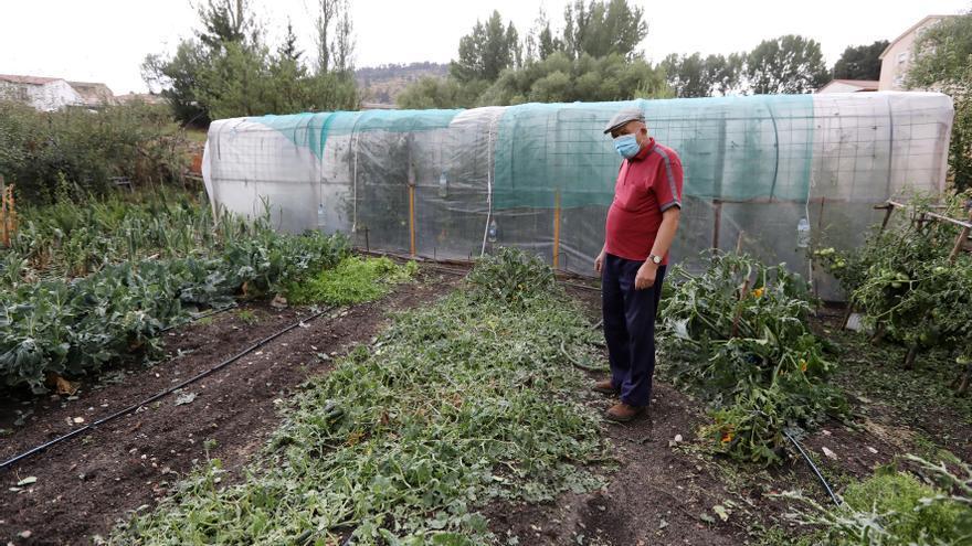 Varios municipios turolenses sufren los daños de las tormentas