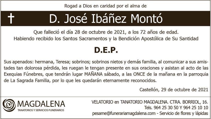 D. José Ibáñez Montó