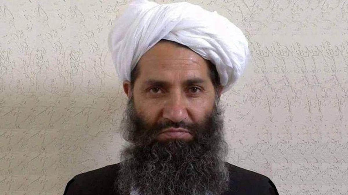 Haibatulá Ajundzada, líder de los talibanes.