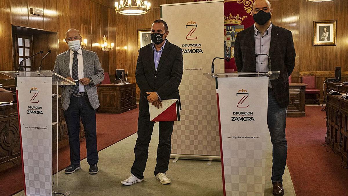 José María Barrios, Francisco José Requejo y Vicente Merino. | Emilio Fraile