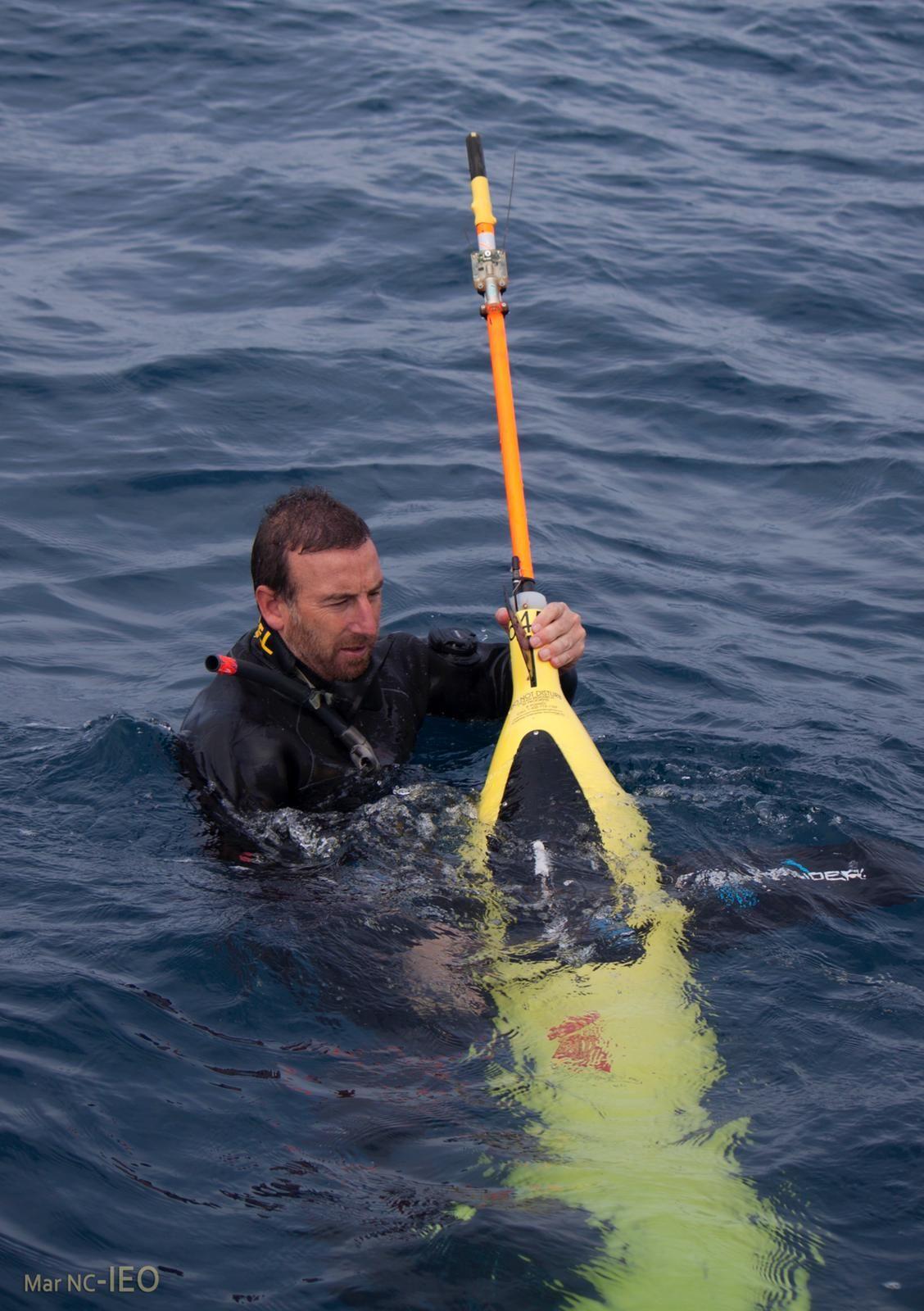 Planeador submarino de Plocan que monitoriza las aguas de A Coruña
