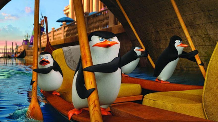 'Los pingüinos de Madagascar': Imaginación pasada de rosca