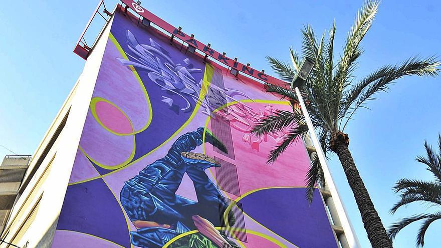 Arte urbano de 23 metros de altura
