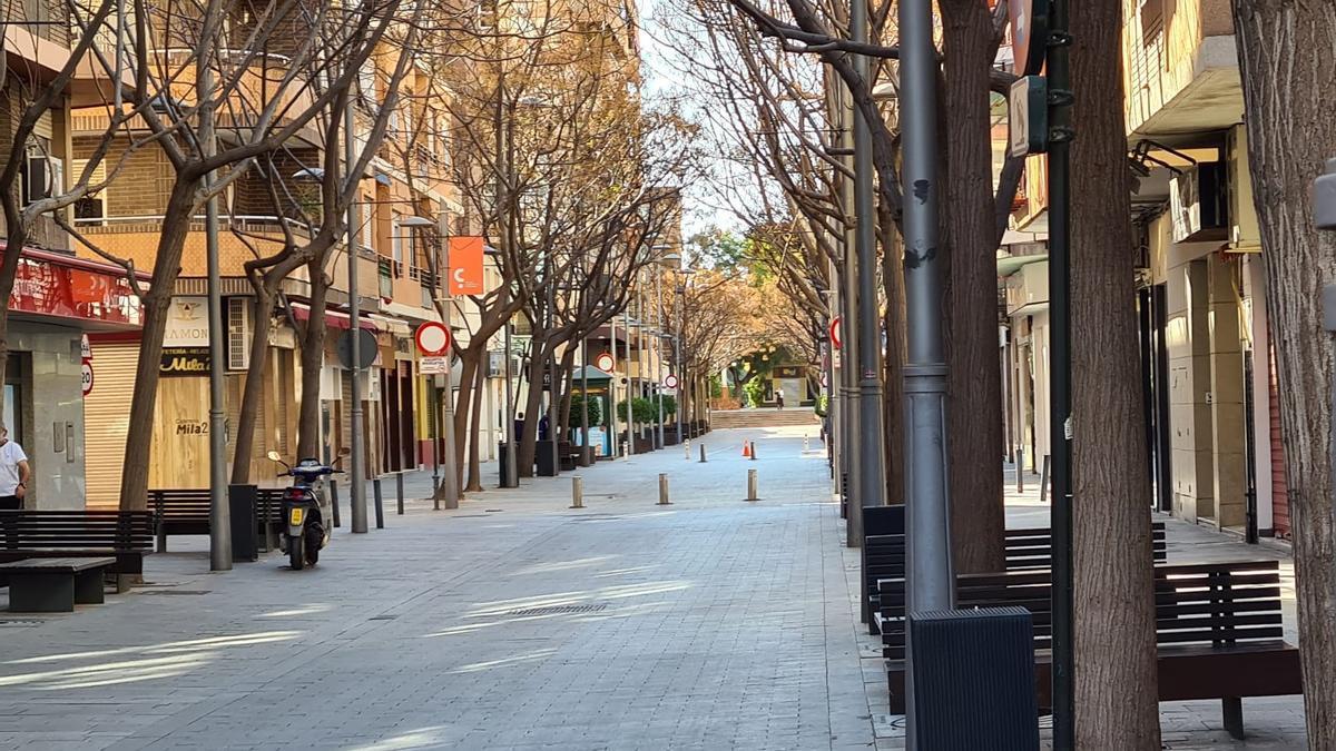 La avenida de la Libertad es uno de los puntos neurálgicos de San Vicente.